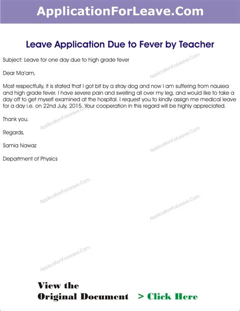 How to write leave of absence letter for school / Centerwore gq